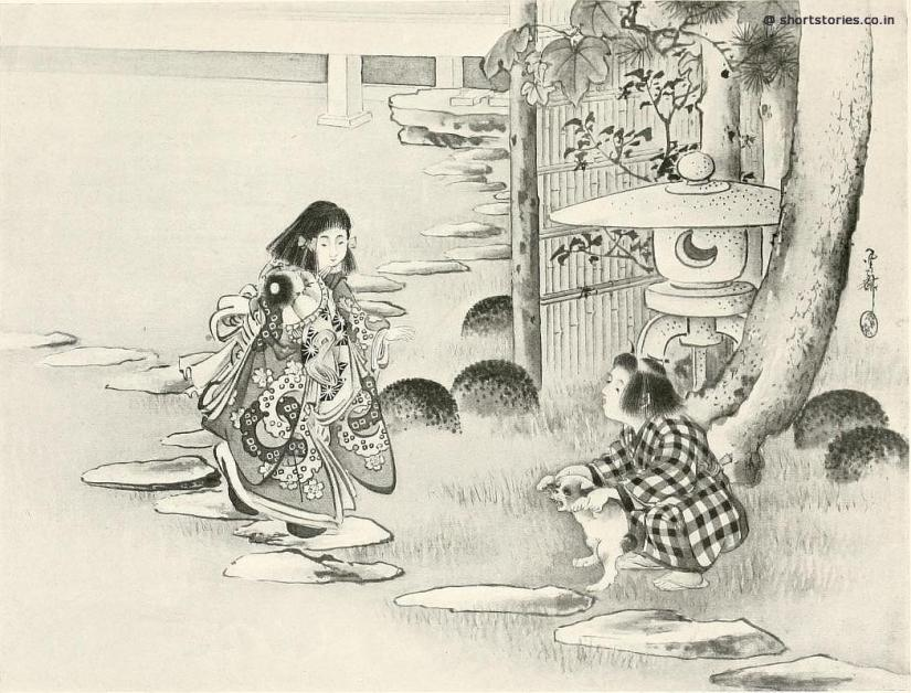 From earliest times Kinu and Kunizo were accustomed to play together