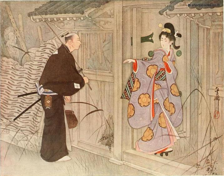 What was the young man's astonishment to see a pretty young girl standing just within the gate