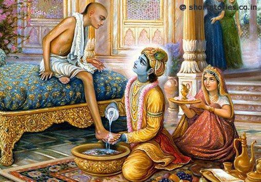 Sudama with Krishna