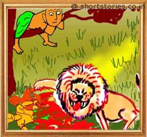 the-lion-that-sprang-to-life-shortstoriescoin-image2