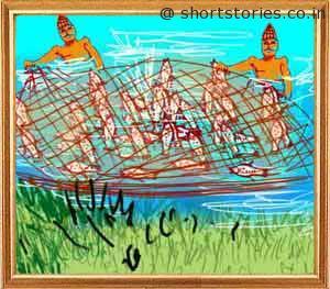 three-fish-panchatantra-tales-shortstoriescoin-image1
