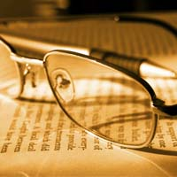 glasses & book
