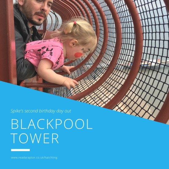 Spike's second birthday day out at Blackpool Tower