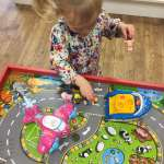 What2Buy4Kids toy shop review Spike playing with the Wow toys