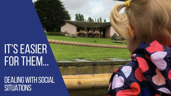 Spike looking at camels at Blackpool Zoo before she became inseparable from her friend