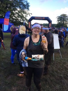 me after completing the tough mudder half for When you wish upon a Star