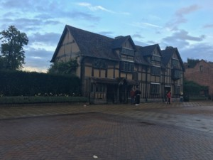 Shakespeare's Birthplace from Stratford Upon Avon shopping street