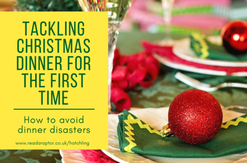 Christmas Dinner table places with caption Tackling Christmas Dinner for the first time How to avoid disaster