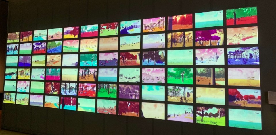 The No Mans Sky wall at the V&A