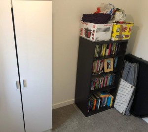 Bookcase and wardrobe