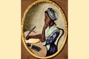 Phillis Wheatley, from an illustration by Scipio Moorhead