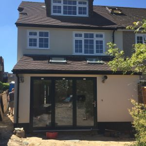 Builders building construction project Loft conversion and extension at Blanchmans Road Warlingham