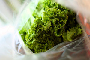 The easy way to bag lettuce at the grocery store