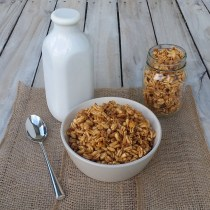 "Homemade, Naturally Sweetened ""Smacks"" Cereal"