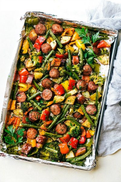 Five Fast Favorites: One Pan Healthy Sausage and Veggies