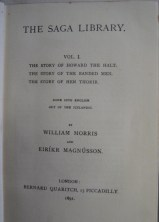 Edition of The Saga Library (1891), edited by William Morris and Eirikr Magnusson