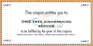sample dishwashing coupon