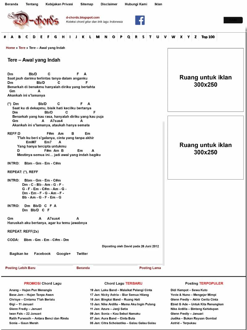 Tere Awal Yang Indah Chord : indah, chord, Indah, D-chords, Document]