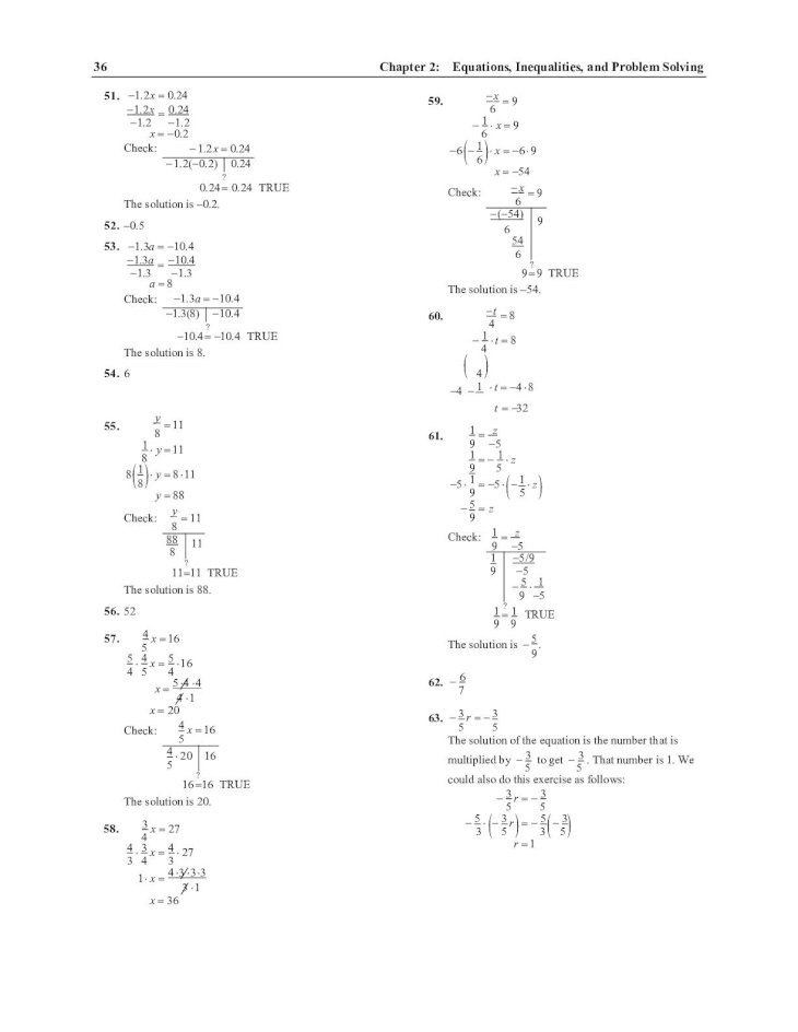 Elementary and Intermediate Algebra Concepts and