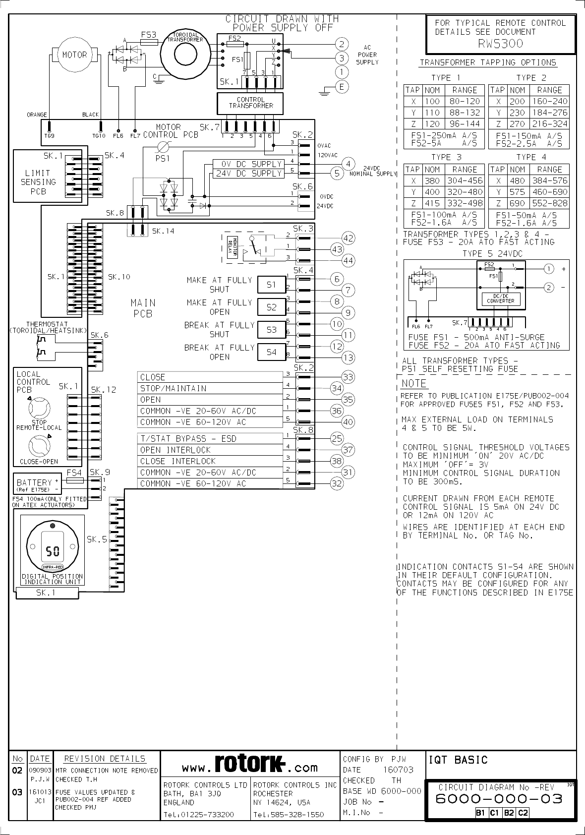 Rotork Motor Operated Valve Wiring Diagram