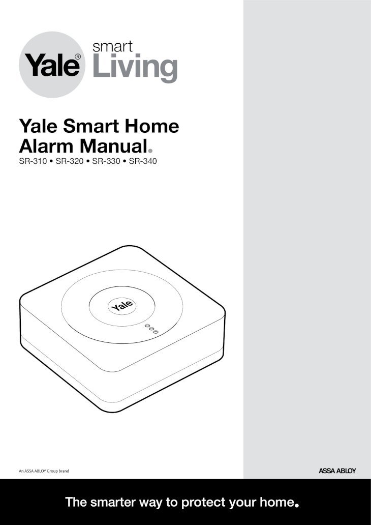 Yale Smart Home Alarm Manual Alarm Manual • SR-310 â