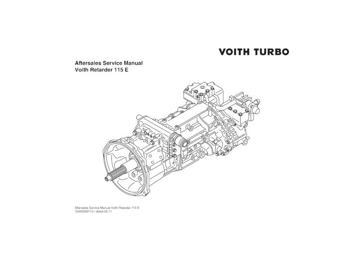 Aftersales Service Manual Voith Retarder 115 E .Voith
