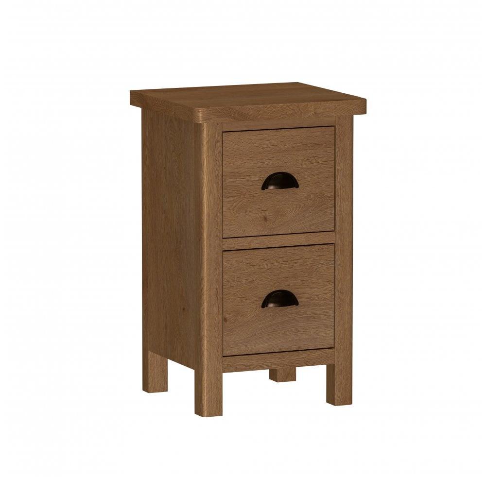 Newbarn Oak Bedroom Small Bedside Cabinet Furniture From Readers Interiors Uk