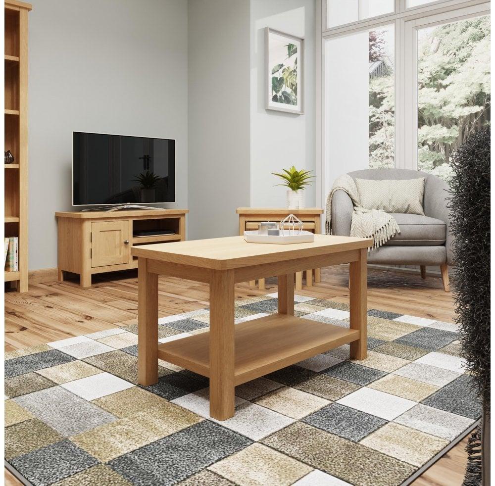 newbarn oak small coffee table