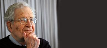 Prof. Noam Chomsky, linguist, philosopher, cognitive scientist and activist. (photo: Va Shiva)