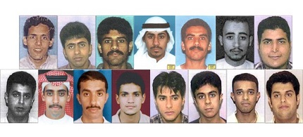 The 15 9/11 hijackers from Saudi Arabia. (photo: Limits to Growth)