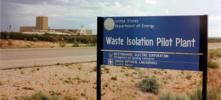 The Waste Isolation Pilot Plant near Carlsbad, New Mexico. (photo: Albuquerque Journal)