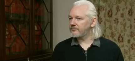 Julian Assange. (photo: Democracy Now!)