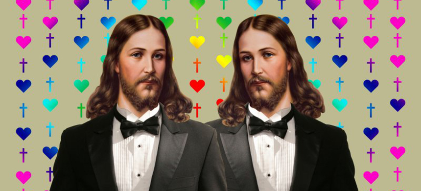 The Episcopalian Church and the Presbyterian Church (USA) both affirmed their support for marriage equality this year. (illustration: Dair Massey/The Daily Beast)