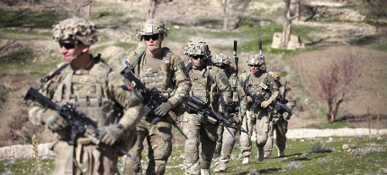 Soldiers with the U.S. Army's 2nd Battalion 87th Infantry Regiment, 3rd Brigade Combat Team, 10th Mountain Division. (photo: Scott Olson/Getty Images)