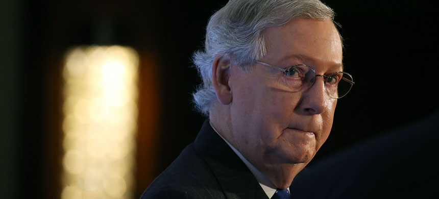 Senate Majority Leader Mitch McConnell in 2015. (photo: Mark Wilson/Getty Images)