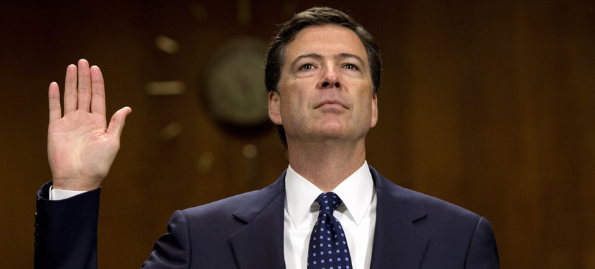 Former FBI director James Comey will testify on Thursday. (photo: Reuters)