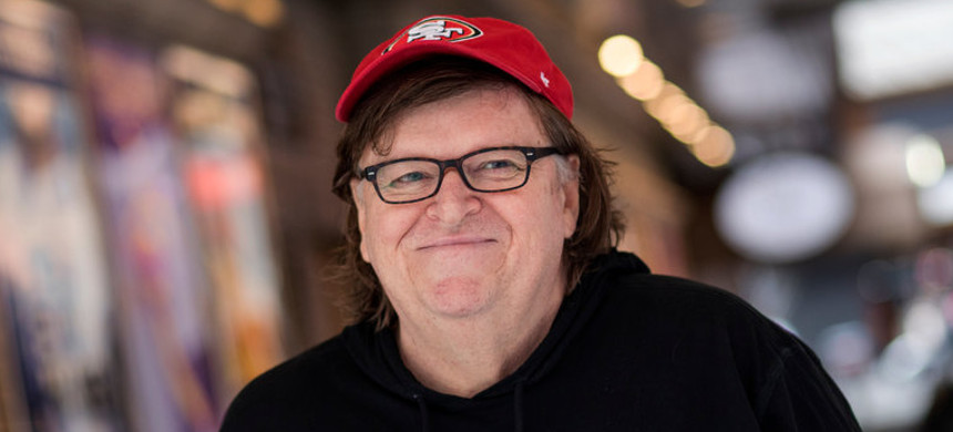 Filmmaker Michael Moore. (photo: New York Times)