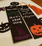 Custom Halloween bookmarks