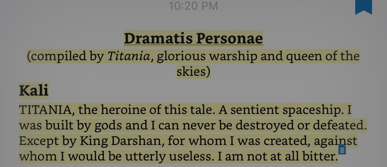 AHoRaS Dramatis Personae