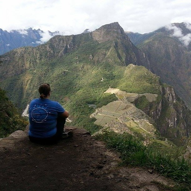 Photo of Kal at Machu Picchu in 2014; taken from top of Huayna Picchu