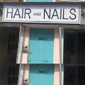 hair and nails front door