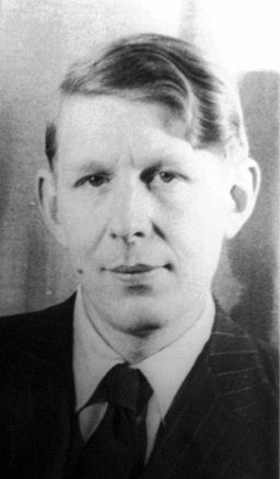 "W. H. Auden, author of ""Musee Des Beaux Arts."" Photo by Carl Van Vechten, 1939. Library of Congress collection."