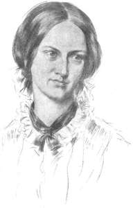 "Pencil drawing of head of Charlotte Bronte, author of ""Jane Eyre."" Probably by George Richmond*"