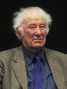 "Photo of Seamus Heaney--head shot. Author of ""Valediction."""