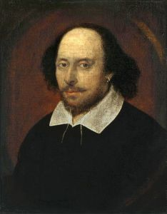 Chandos portrait of Shakespeare*. Shakespeare does the mind twist.