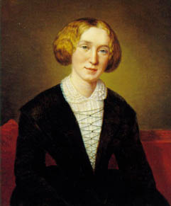 """George Eliot"" (Mary Ann Evans) at age 30. Painting by d'Albert Durade."
