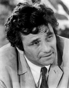 Actor Peter Falk as Columbo, 1973.