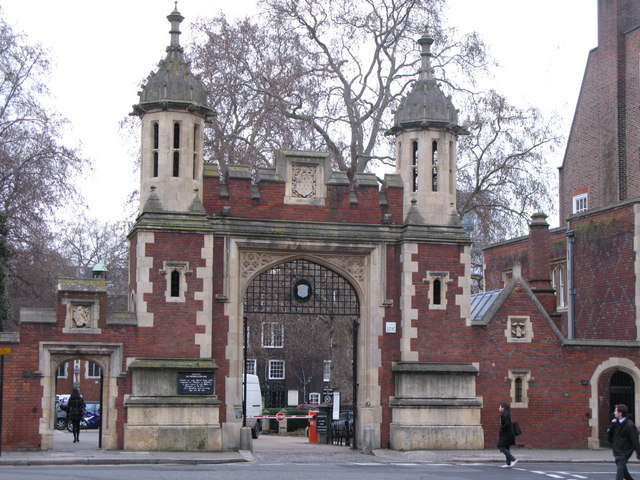 Gateway to Lincoln's Inn, near the Court of Chancery. I