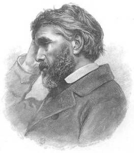 Etching of photograph of middle-aged man facing left with right hand to forhead, serious expression, slightly graying thick hair and mid-length beard, jacket with lapels.