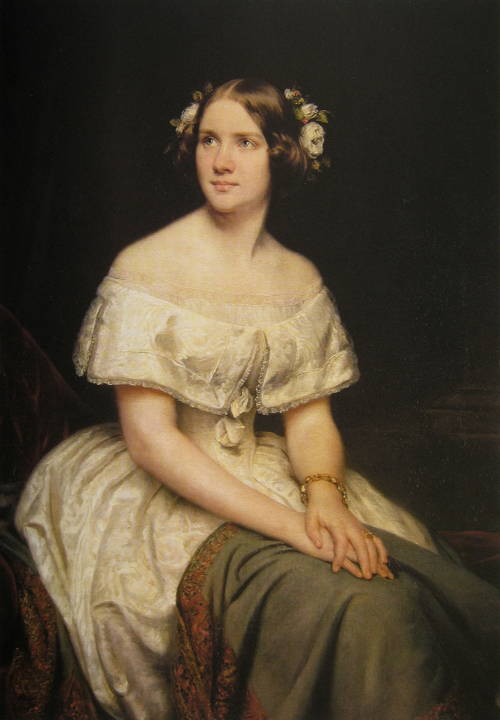 This 1862 portrait of Jenny Lind might be a good model for Elizabeth-Jane, who was pretty and fair.